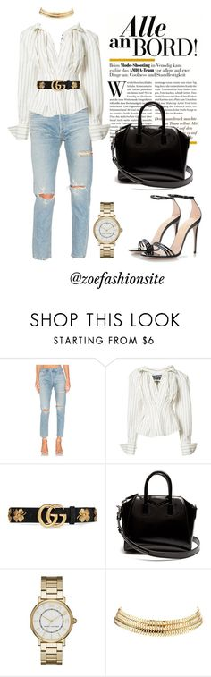 """""""Untitled #463"""" by zoefashionsite ❤ liked on Polyvore featuring AGOLDE, Jacquemus, Gucci, Givenchy, Marc Jacobs and Charlotte Russe"""
