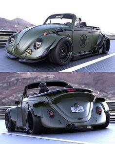autoporn-net: A VW Beetle- In Warrior Mode autoporn-net: A VW Beetle- In Warrior Mode VW Volkswagen aircooled V Dub Vw Super Beetle, Beetle Car, Beetle Juice, Car Volkswagen, Vw Cars, Volkswagen Vehicles, Vw Coccinelle Cabriolet, Carros Vw, Vw Beetle Convertible