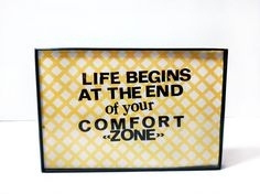 Birthday Gift Dorm Decor  4x6 Framed Quote  Life by melizzzahmade, $12.00