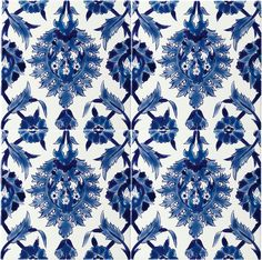 azulejos - One of my favorite color combinations - relaxing and inspiring Tile Patterns, Textures Patterns, Print Patterns, Turkish Tiles, Portuguese Tiles, Art Design, Tile Design, Tile Art, Mosaic Tiles