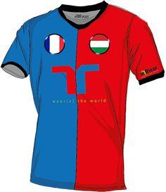 Frankreich - Ungarn l France - Hungary kurzarm Trikot mit Wunschnamen und Wunschnummer