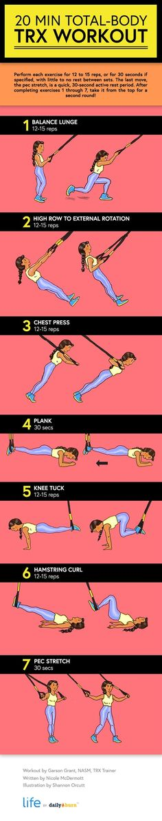 This beginner-friendly TRX workout will strengthen and tone the whole body — in just 20 minutes flat. Time to get TRX-ercising!