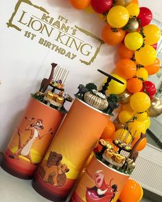Jungle Theme Birthday, Lion King Birthday, 2nd Birthday Party Themes, Baby First Birthday, Baby Girl Shower Themes, Baby Shower Decorations For Boys, Baby Shower Parties, Lion King Theme, Lion King Party