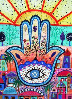 hamsa, hamesh, evil eye, protect, protection, protector, see, watch over, judaica, jewish, star,david, tree, tree of life, jerusalem, prisarts, pristine cartera turkus, sun, bar, bat, b'nai, bnai, mitzvah, confirmation, religious, fish, pomegranate, star of david, israel