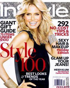 Heidi Klum – InStyle Magazine (December 2008)