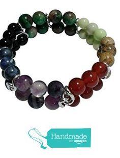 Chakra 7 Gemstones Double Strand Healing Bracelet, Size 7.5 to 8 from Pam Handmade Jewelry https://www.amazon.com/dp/B01EOA4N18/ref=hnd_sw_r_pi_dp_86w0xbENM30N0 #handmadeatamazon