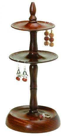 Shop for Handmade Wood Two-tier Earring Stand (India). Get free delivery On EVERYTHING* Overstock - Your Online Jewelry Shop! Wooden Earrings, Wooden Jewelry, Handmade Wooden, Handmade Gifts, Wood Turning Projects, Wood Projects, Lathe Projects, Fair Trade Jewelry, Jewelry Holder
