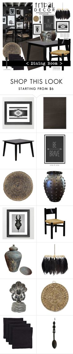 """""""Tribal Decor"""" by palmtreesandpompoms ❤ liked on Polyvore featuring interior, interiors, interior design, home, home decor, interior decorating, Jaipur, Deborah Rhodes, Mineheart and NOVICA"""