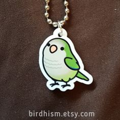 """Now you can wear your Chubby Bird!Pendant: 1-sided, 1"""" Laser Cut AcrylicChain: Stainless Steel Ball Chain"""