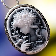 Antique Style Maiden & Fairy Cameo Pin/Pendant. Starting at $12 on Tophatter.com!ON AUCTION NOW 5/28 11pm est