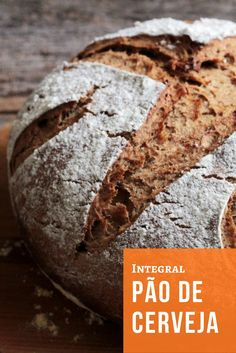 Pão integral de cerveja preta e especiarias