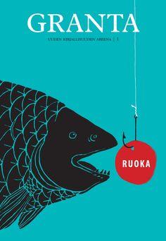 Title: Granta | Illustrator: Emmi Kyytsönen Ebook Pdf, Illustration, Movie Posters, Design, Art, Link, Blue, Editorial Design, Art Background