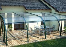 cobertura-retrátil-para-quintal Sunroom, Swimming Pools, House, Design, Outdoors, Pergola Cover, Gardens, Landscaping, Garages