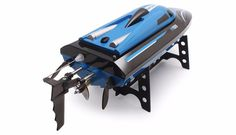 High Speed RC Boat H100 with LCD Screen Blue Color by podoqo