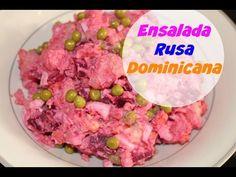 Ensalada Rusa Dominicana (para noche buena) - Facil ensalada rusa estilo Dominicano. Con papas, zanahorias, huevos, guisantes dulces y mucho mas! Ven y ver la receta :)