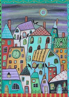 Landscape Greeting Card featuring the painting Early Eve 1 by Karla Gerard