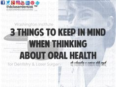 Dr. Claudia Cotca, DDS, MPH on 3 #aspects of your mouth which may indicate an #oral #health condition, and if identified #early can save invasive #treatment in time, and keep treatment options to minimally invasive while obtaining optimal oral #health.