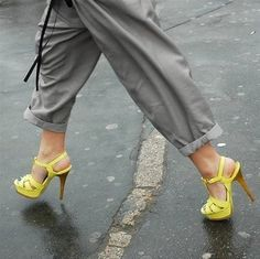 Not a fan of the shoes but love the baggy pant with the structured shoe