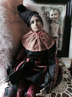 Absolute  RARITÄTBoudoirdoll Pierrot charmant ca von Chambredecoeur
