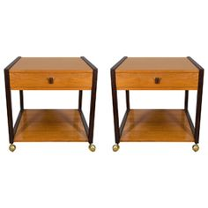 A Mid Century Pair of Edward Wormley for Dunbar End or Side Tables