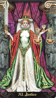 When Justice appears reversed it may be indicating an injustice or loss in your life. Move on regardless as there is better to come. {Tarot Illuminati by Erik C Dunne: Justice}
