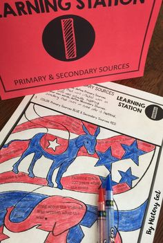 Reading Primary and Secondary Sources Doodle Notes and Stations - Your and grade classroom or homeschool students are going to enjoy this 36 page resource. You get teacher instructions, doodle notes, PowerPoint present Teaching Us History, Teaching Social Studies, History Teachers, History Education, Primary And Secondary Sources, Secondary Teacher, Teaching Government, Teacher Jokes, Ancient World History