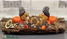 Mókusok az őszben - asztaldísz, dekoráció (AKezmuvescsodak) - Meska.hu Floral Arrangements, Fall Decor, Centerpieces, Thanksgiving, Autumn, Party, Home Decor, Gardens, Flowers