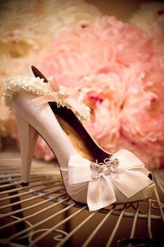 Paris Hilton Heels, DIY garter, Juicy Couture earrings