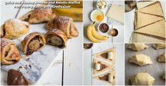 Quick and Yummy Banana and Nutella Stuffed Puff Pastry Rolls