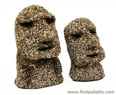 Make your own Moai Easter Island statues.