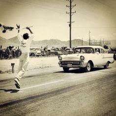 Vintage Drag Racing, no tree back then!.  #OldSchoolNHRA