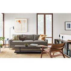 Chesterfield Sofa Room u Board Stevens Sofa in Tepic Grey