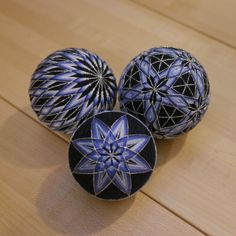 beautiful blue balls - hand crafted