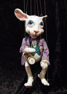 White Rabbit from Alice in Wonderland by ofMiceandMarionettes, $275.00
