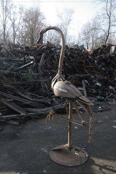 scrap metal yard art
