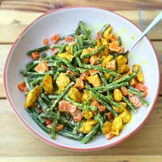 Green beans with sweet potato and chicken fillet - Healthy Diet Recipes, Healthy Cooking, Real Food Recipes, Healthy Diners, Clean Eating, Happy Foods, Evening Meals, I Love Food, No Cook Meals