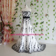 Black and White Wedding Dress (Front)