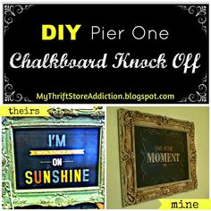 Get the Look: Pier One Chalkboard Knockoff!