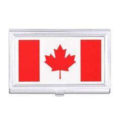Canadian flag custom business card holders custom gift ideas diy