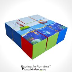 Set Puzzle destinat jocurilor de grup ce dezvoltă abilitățile fizice și îi ajută pe copii să interacționeze, astfel activitățile de cunoaștere și învățare se vor realiza prin multă joacă. #cuburi #puzzle #kinderfun #softplay • Cu drag, Kinderfun™ Soft Play România » www.kinderfun.ro/forme-individuale Decorative Boxes, Puzzle, Puzzles, Decorative Storage Boxes, Puzzle Games, Riddles