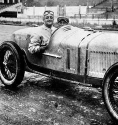Enzo Ferrari and Eugenio Siena at Coppa Acerbo Pescara 1924 Alfa Romeo RL Targa Florio