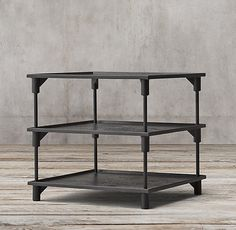 "20th C. European Factory Metal 28"" Side Table, 28"" square x 26"" high"