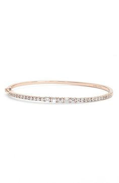Bony Levy Baguette Diamond Bangle Bracelet available at #Nordstrom
