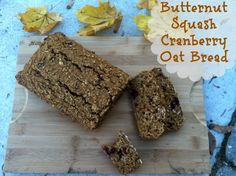 Butternut Squash Cranberry Oat Bread 1 - happyfitmama.com -- going to try without yogurt
