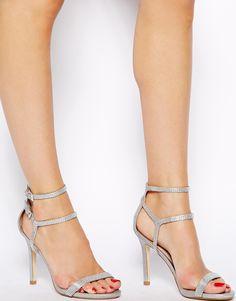 ecdcc1a88d84 Miss KG Emelie Silver Heeled Sandals at asos.com