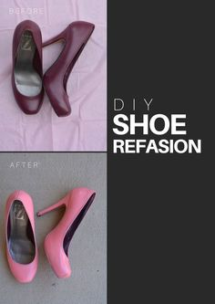 Getting more mileage out of a pair of heels with my latest DIY on the blog. Update shoes with Color It New for a Fresh New Look. diy, shoe refashion, how to paint shoes, pink pumps, pink heels, easy and inexpensive way to change boring shoes, stylish DIY