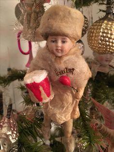 Antique Spun Cotton Ornament.