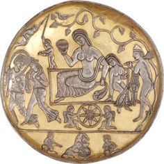 Sassanid silver plate