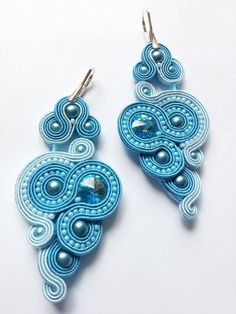 Jasmine soutache earrings by Monnica by MadameMonnica on Etsy