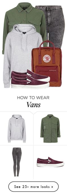 """""""Untitled #1457"""" by noka76 on Polyvore featuring Topshop, Fjällräven and Vans"""
